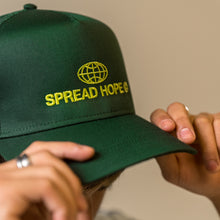 Load image into Gallery viewer, Green Spread Hope Trucker Hat