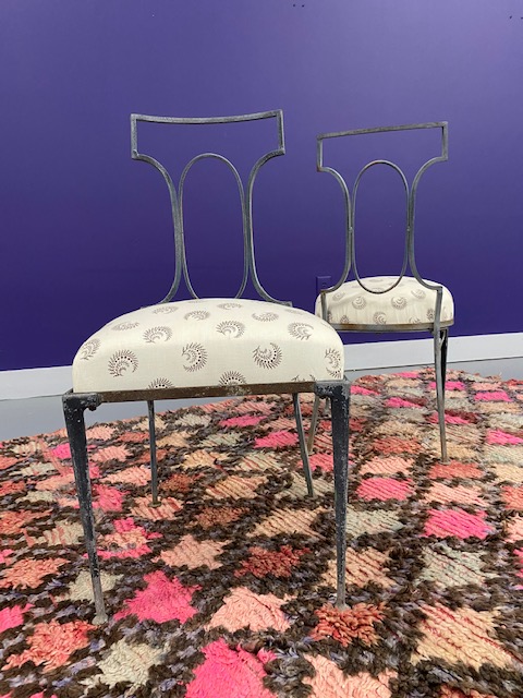 Mid-Century Cast Iron Chairs (Pair)