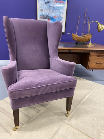 Purple Velvet Armchair