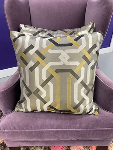 Geometric Silk Pillows (Pair)