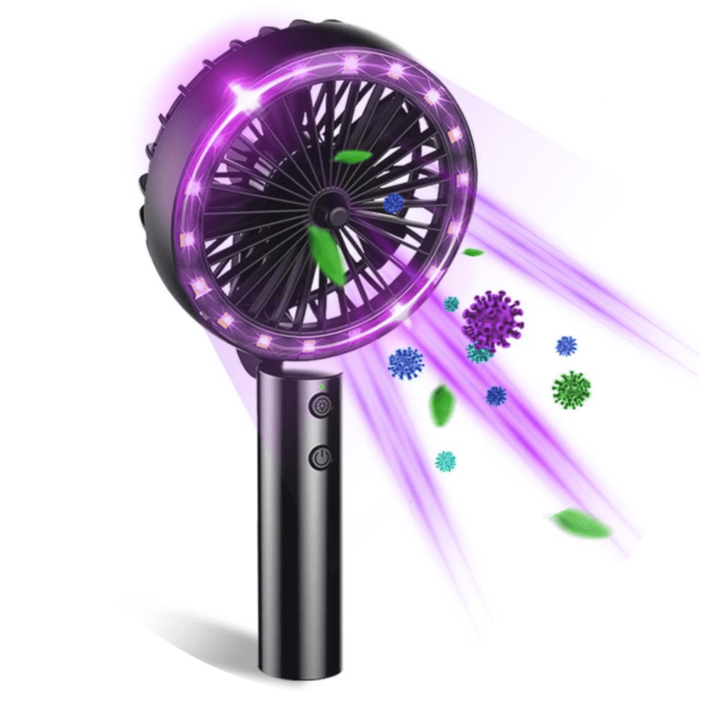 Portable Multi-Function Mini UVC Sterilizing Fan for Home or Travel - Breathe Smooth
