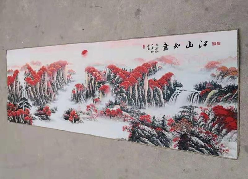 180x60cm / Chinese silk embroidery landscape painting - Beautiful Chinese Landscape - winding art