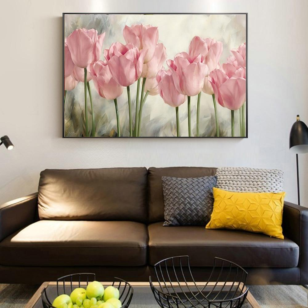 Watercolor Flowers Wall Art Colorful Hand Painting Poppy Flowers - winding art