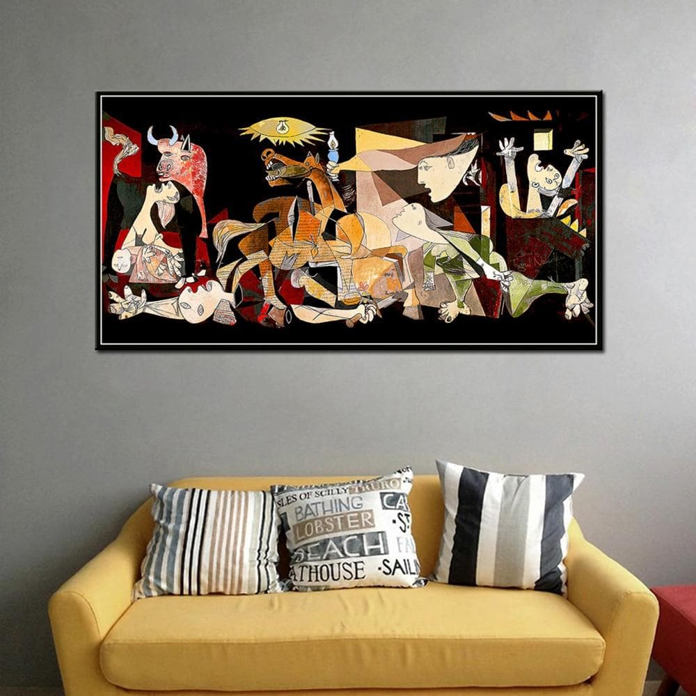 Spain France Picasso Guernica Vintage Classic German Print Painting - winding art