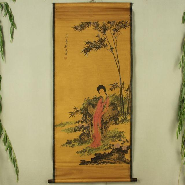 China Antique Boutique collection the Bamboo female diagram - winding art