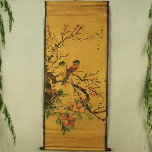 Chinese Antique collection the Flowers and birds diagram - winding art