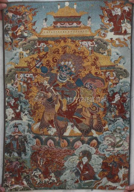 Chinese Boutique collection the Thangka embroidery Mahakala diagram - winding art