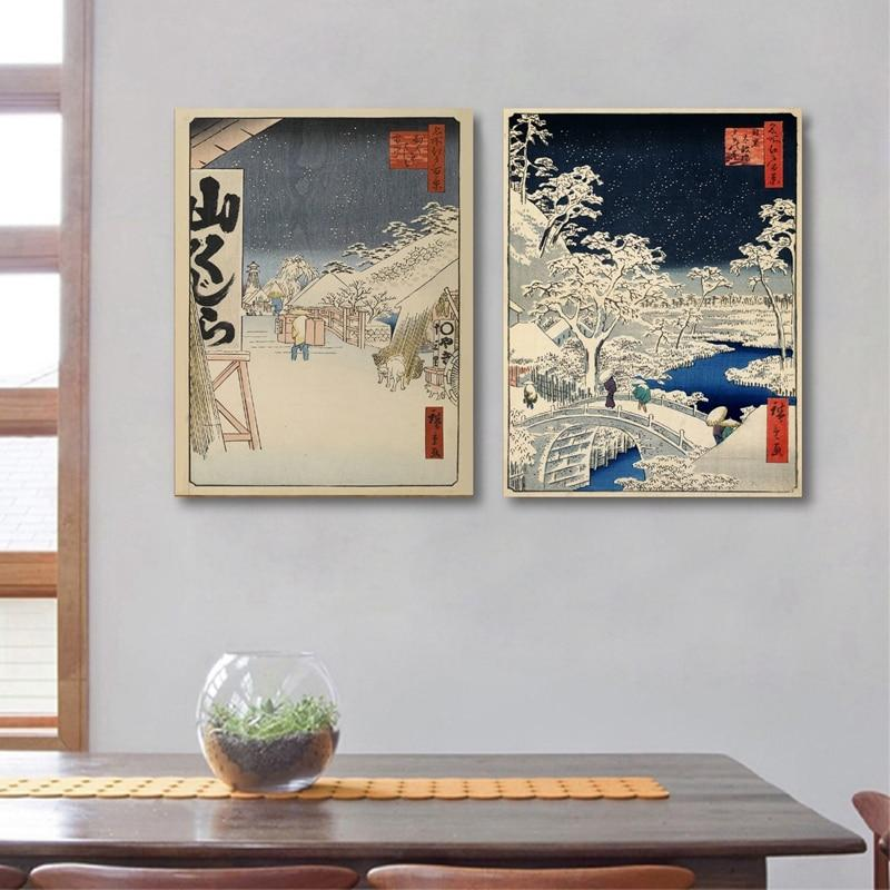 Japanese Traditional Landscape Japanese Style Canvas Painting - winding art
