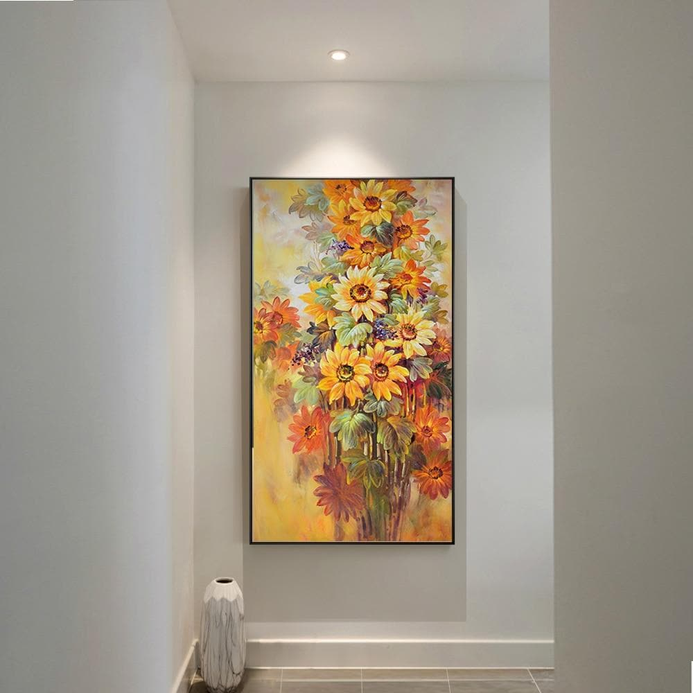 Oil Modern Sunflower Wall Art Flowers Canvas Painting - winding art
