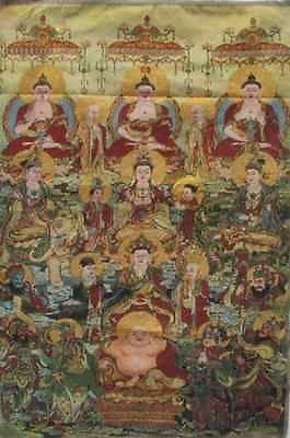 Tibet Nepal thangka tara buddha statue Guan Yin Exorcism peace wealth/4 - winding art