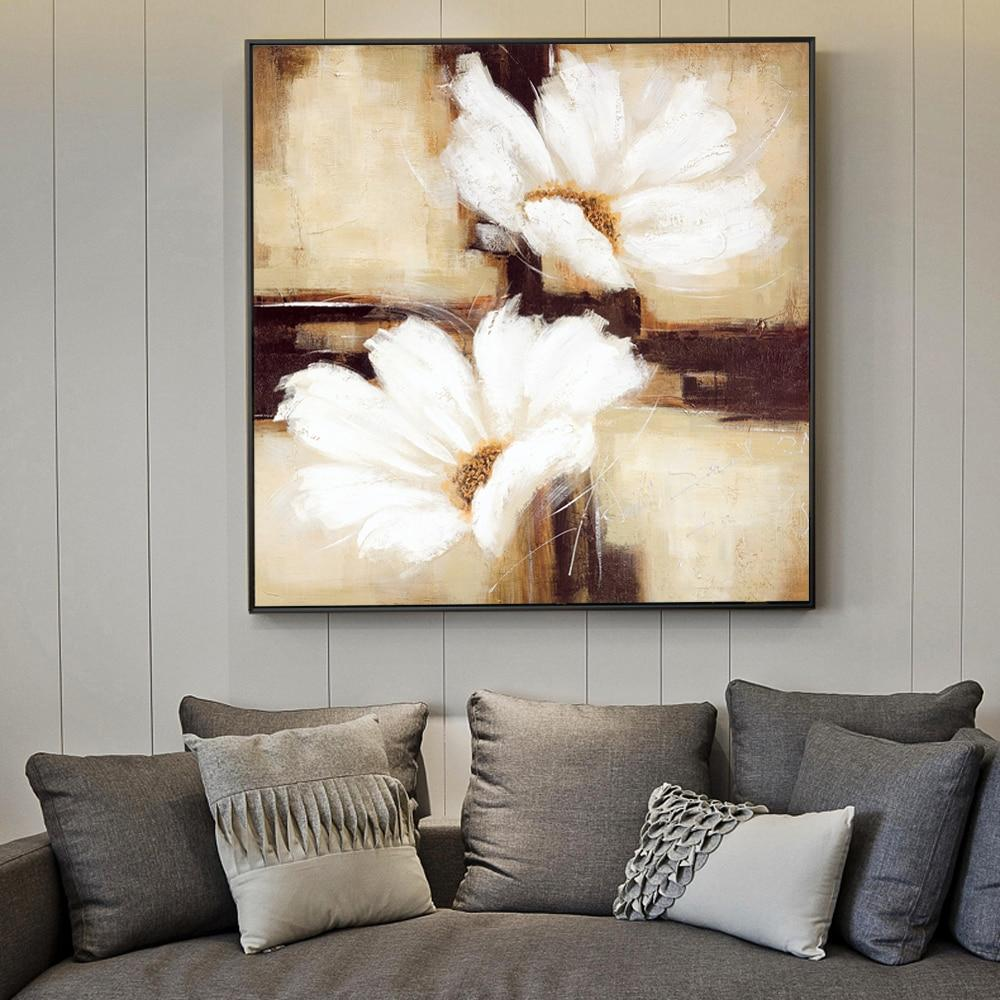 Large Daisy Flowers Canvas Art Paintings - winding art