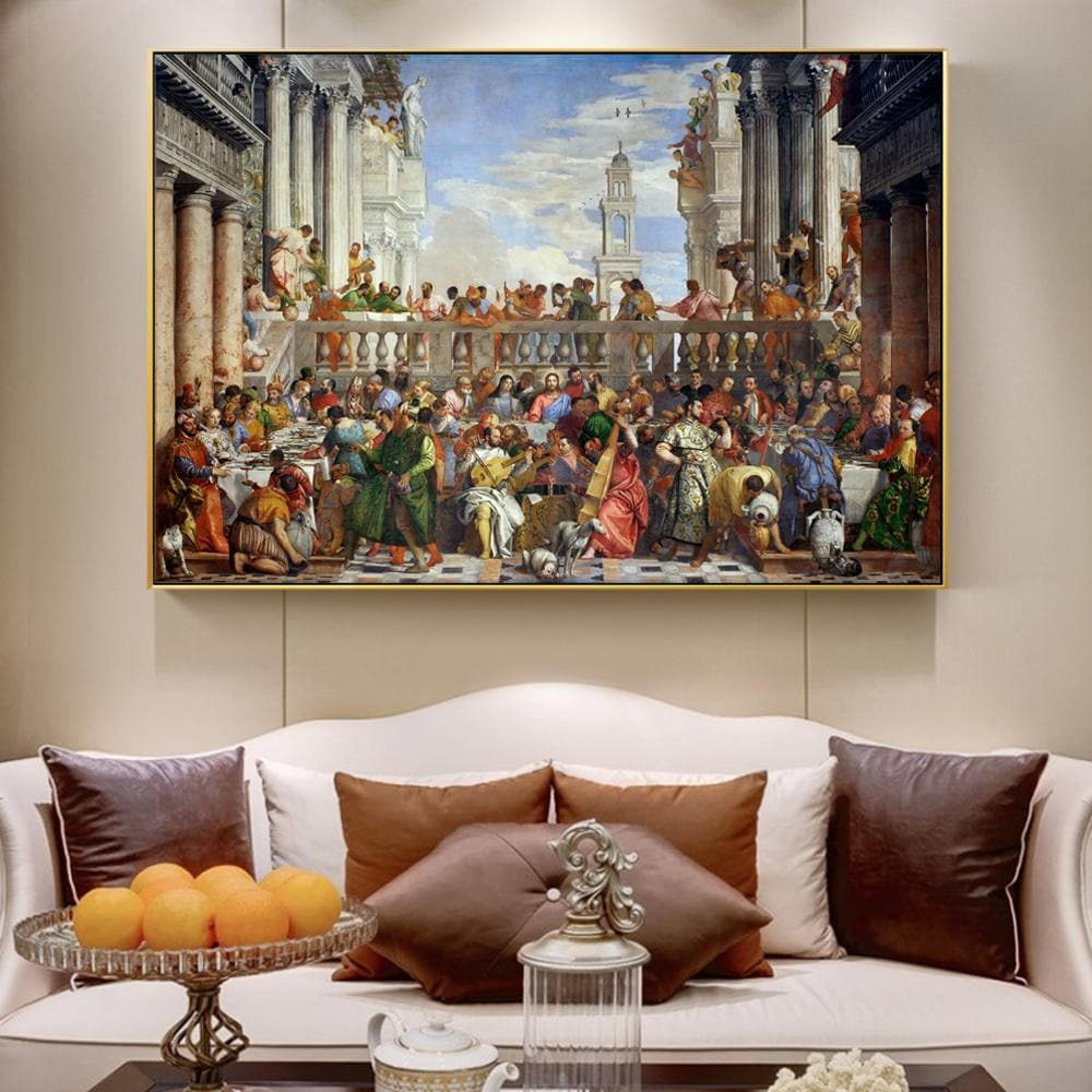 The Wedding at Cana 1563 Famous Wall Art Canvas Painting Reproductions Paolo Veronese - winding art