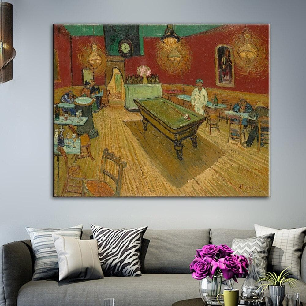 The Night Cafe Canvas Art Paintings On The Wall Vincent van Gogh Impressionist Famous - winding art