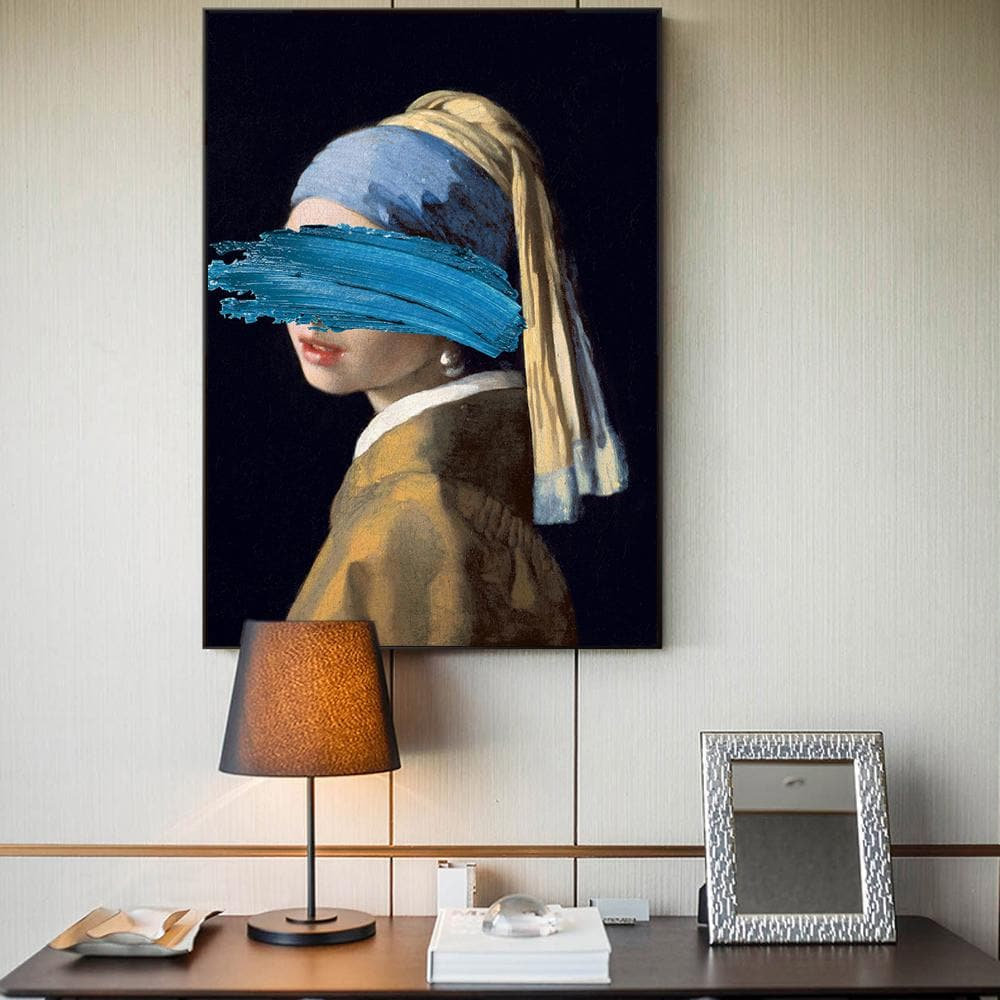 The Girl With A Pearl Earring Canvas Paintings Reproductions Famous Artwork - winding art