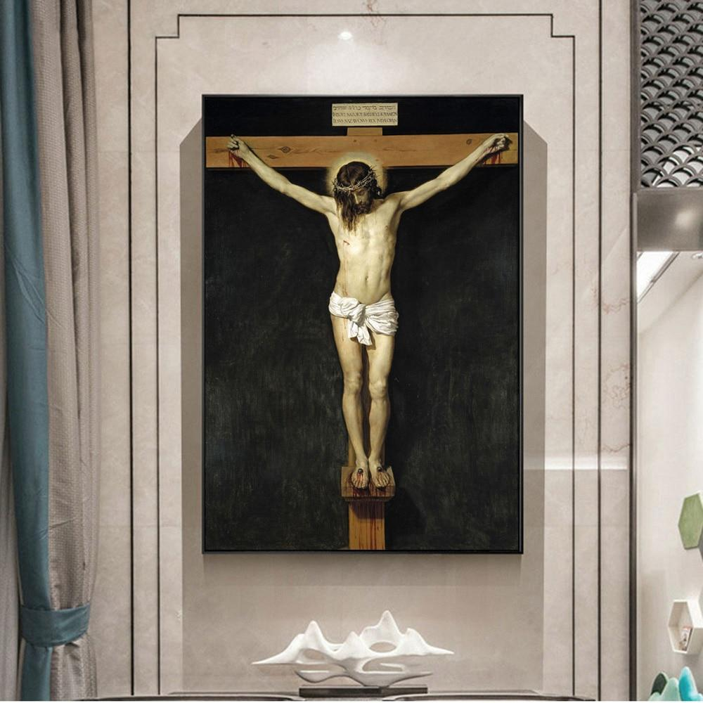 Christ Crucified Famous Canvas Paintings Reproductions  Cuadros - winding art
