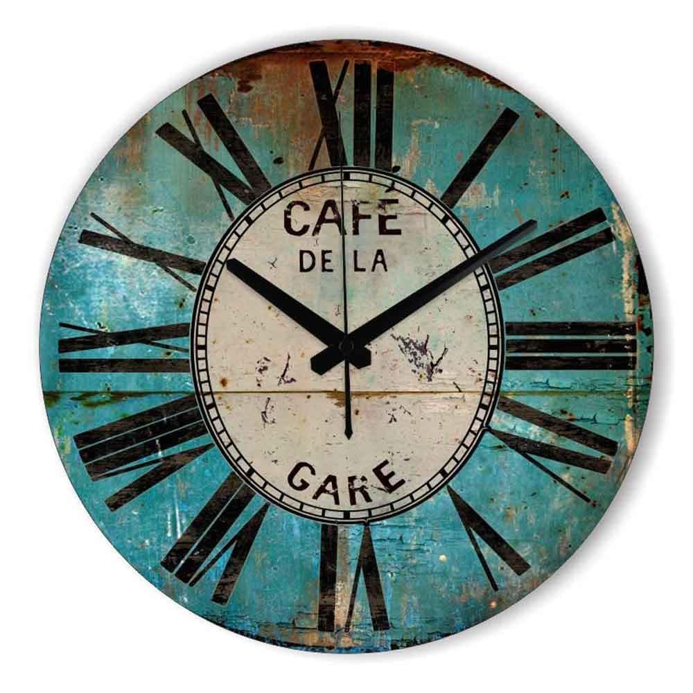 Retro Wall Decor Wall Clock  Warranty 3 Years Vintage Decorative - winding art