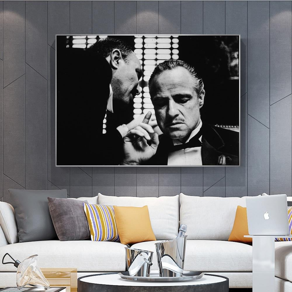 Modern Art Vintage Movie Handsome Old Man Boss Photo Wall Art Print Canvas Painting Homr - winding art