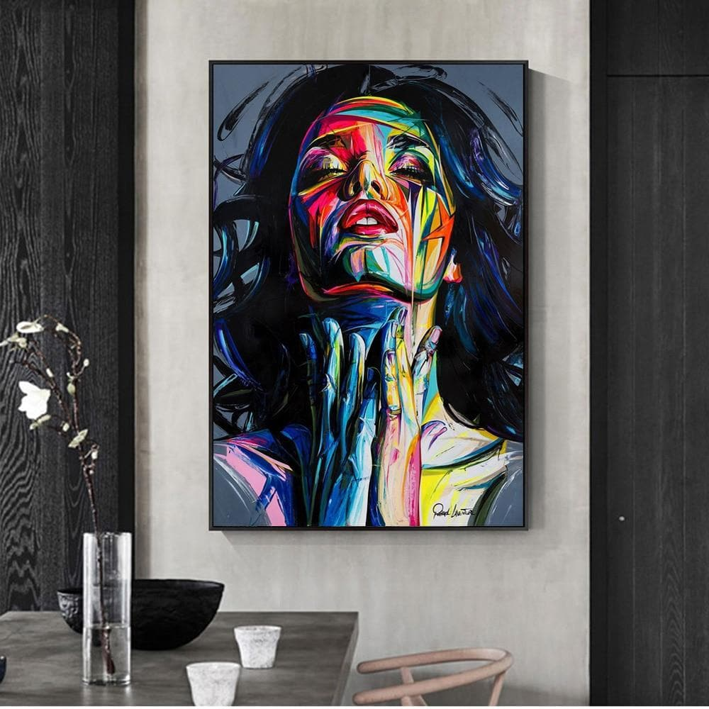 Street Graffiti Wall Art Canvas Prints Abstract Pop Art Girls Watercolor Canvas Paintings - winding art