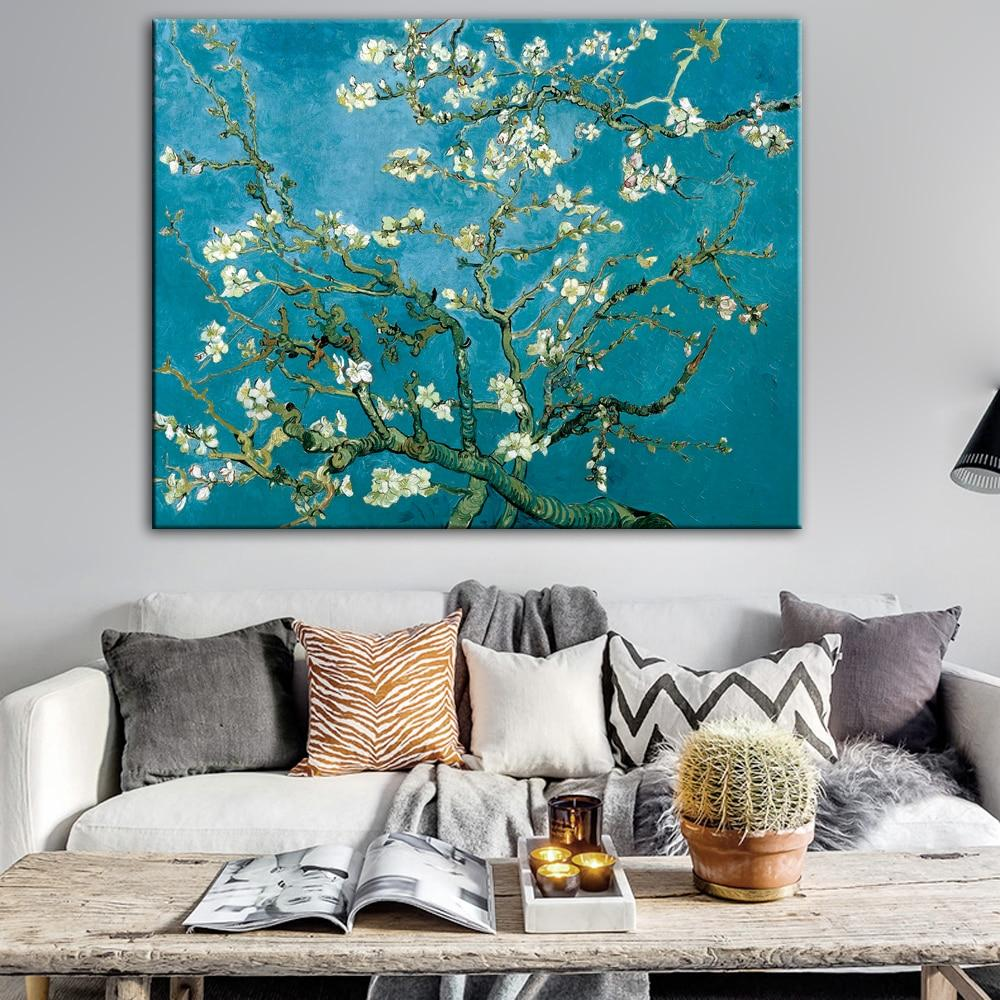 Impressionist Almond Blossom Van Gogh Famous Canvas Art Paintings - winding art