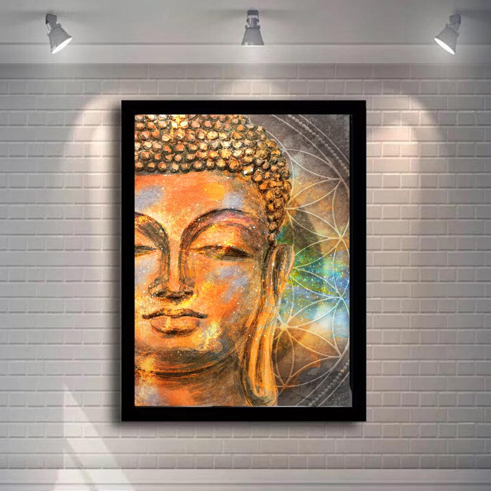 Abstract Buddha Head Canvas Paintings  Buddhist religion - winding art