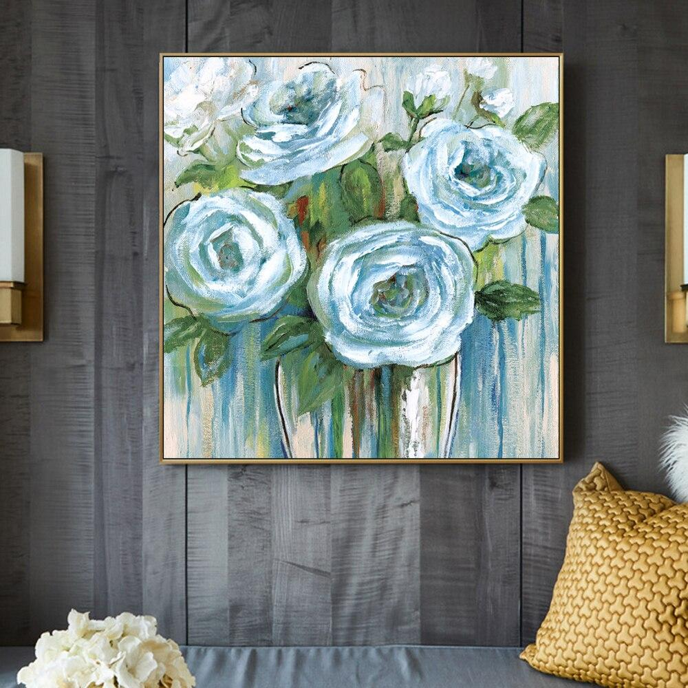 Flowers Oil Paintings Print On Canvas Painting - winding art