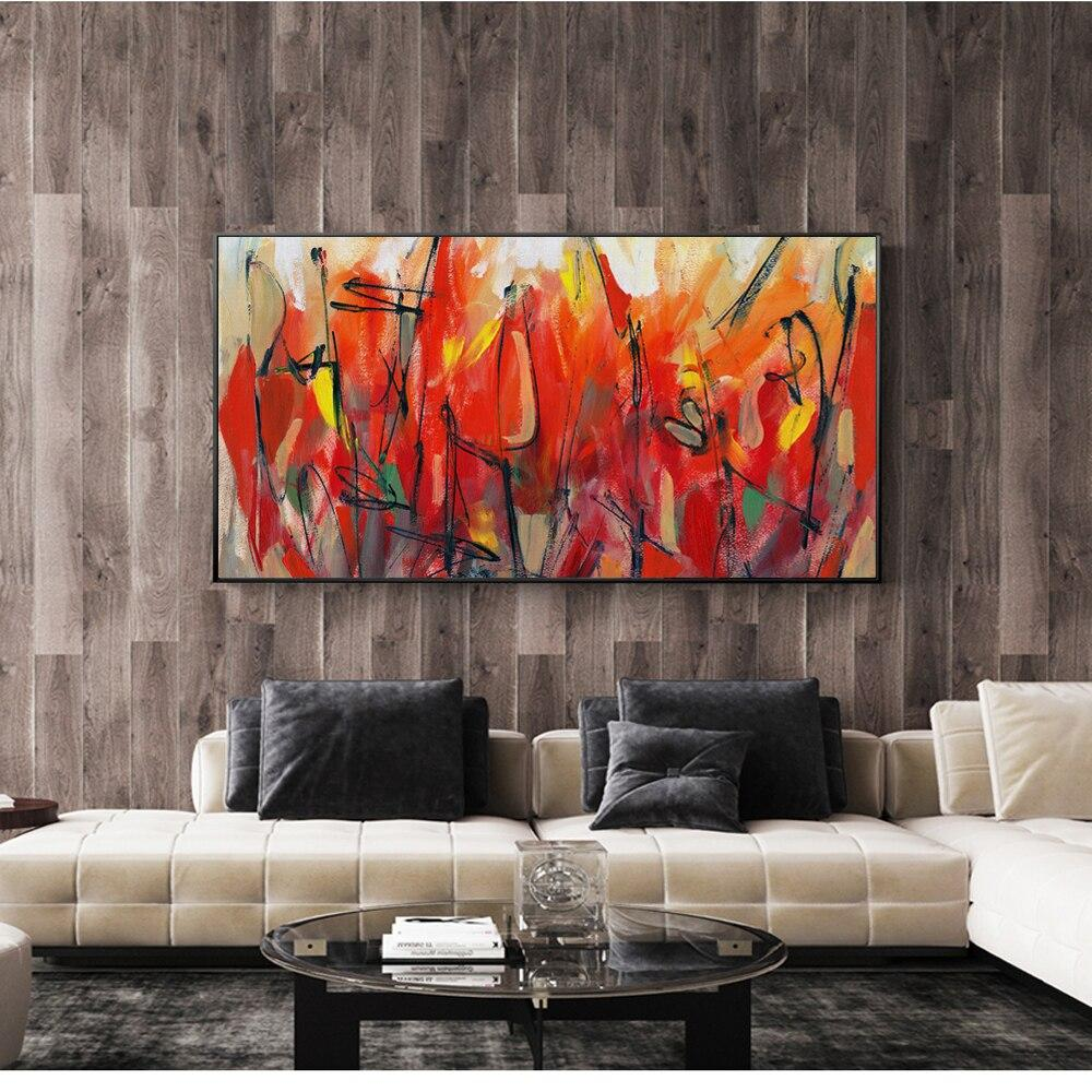 Flowers  Home Decor Red ColorModern  Prints For  Cuadros - winding art