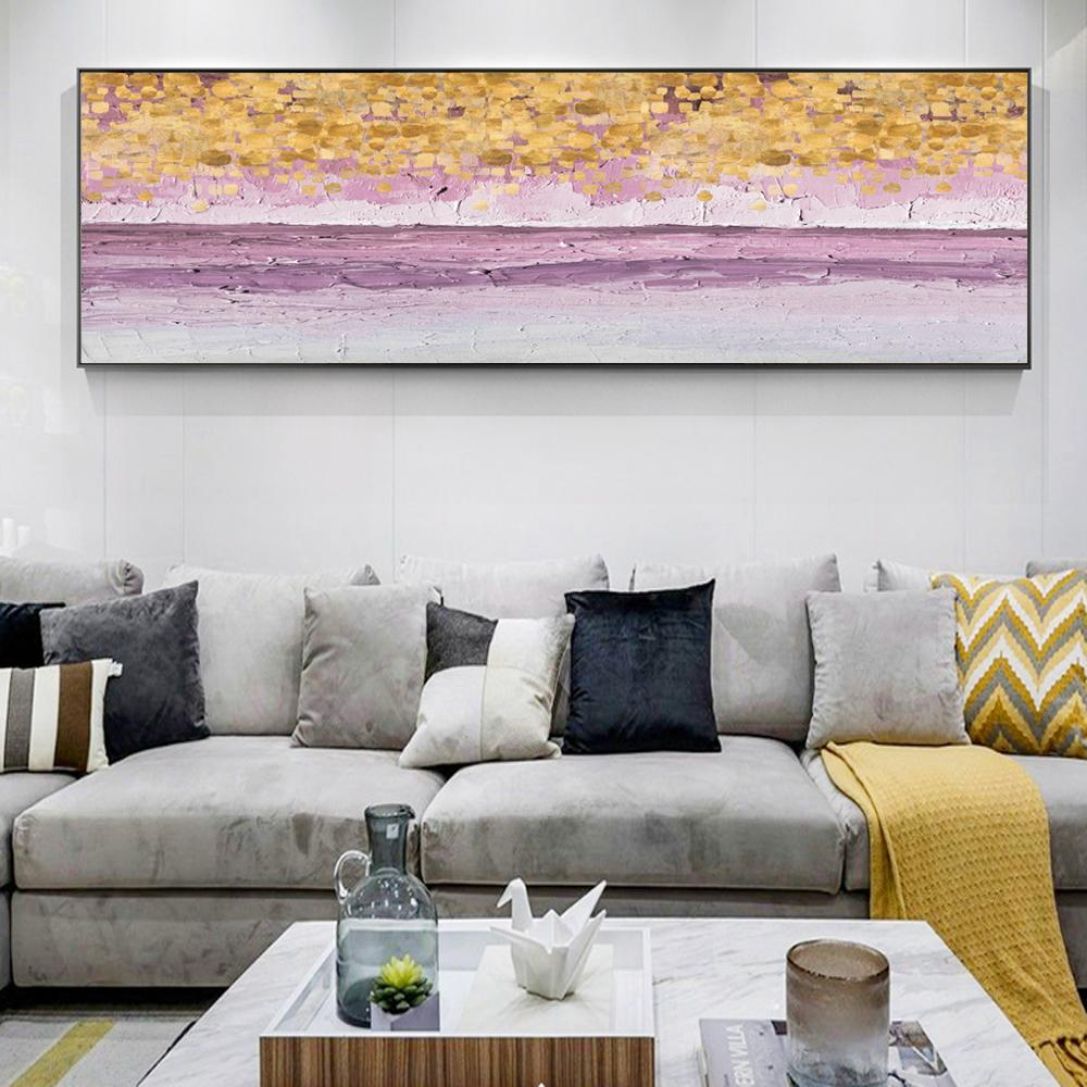 Abstract Golden Point Canvas Art Paintings - winding art