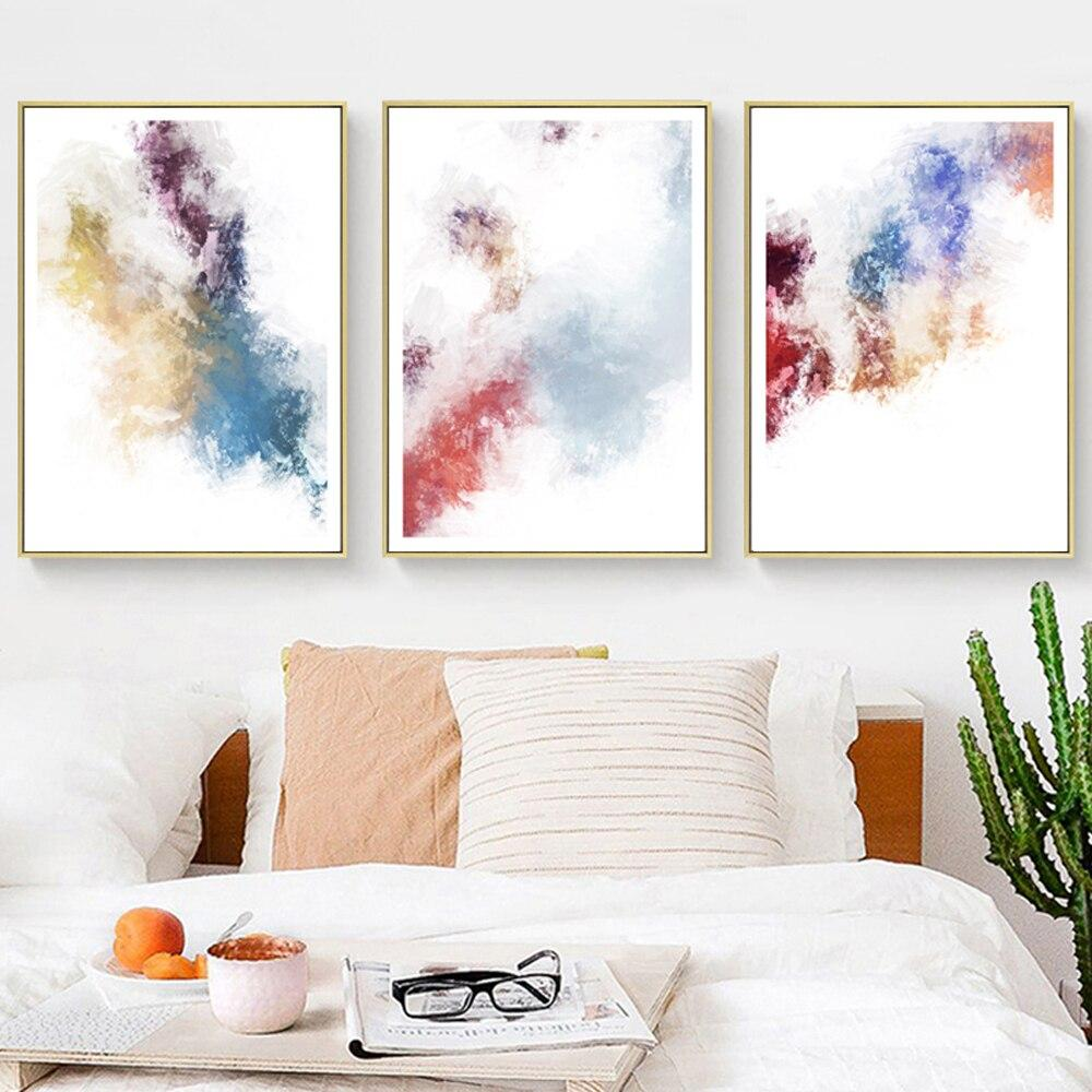 Abstract Geometry  Watercolor Modern Canvas Paintings - winding art