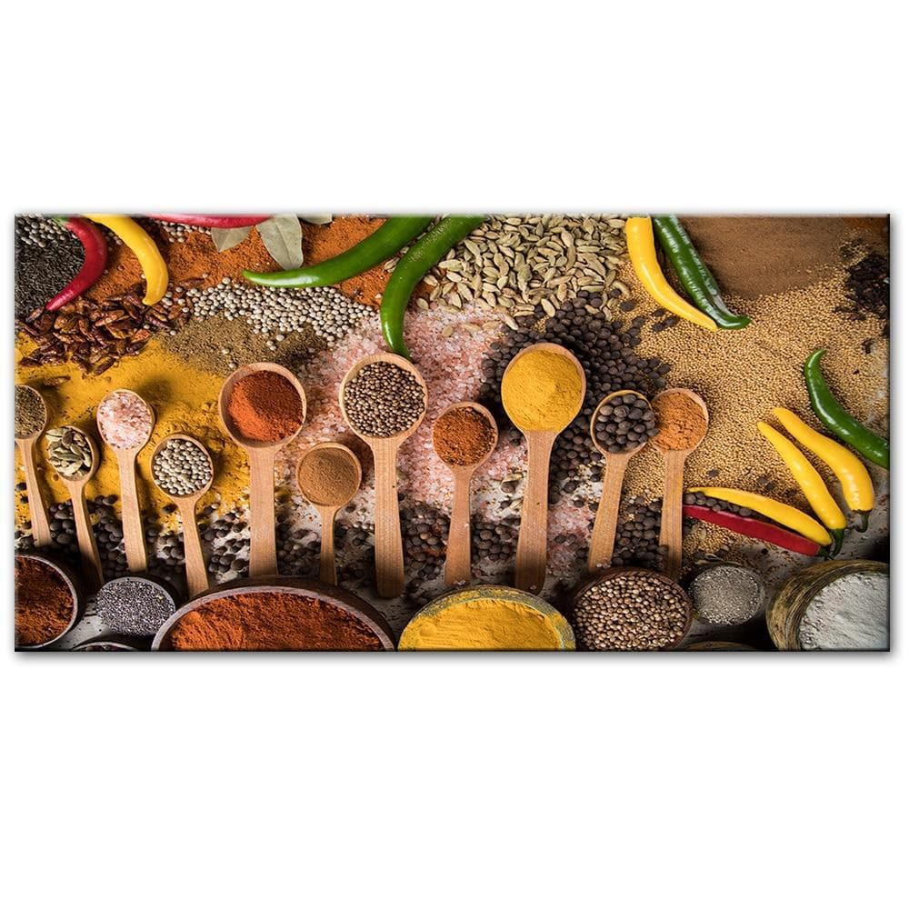 Spices On The Table Wall Art Canvas Pictures Kitchen Room Decoration - winding art