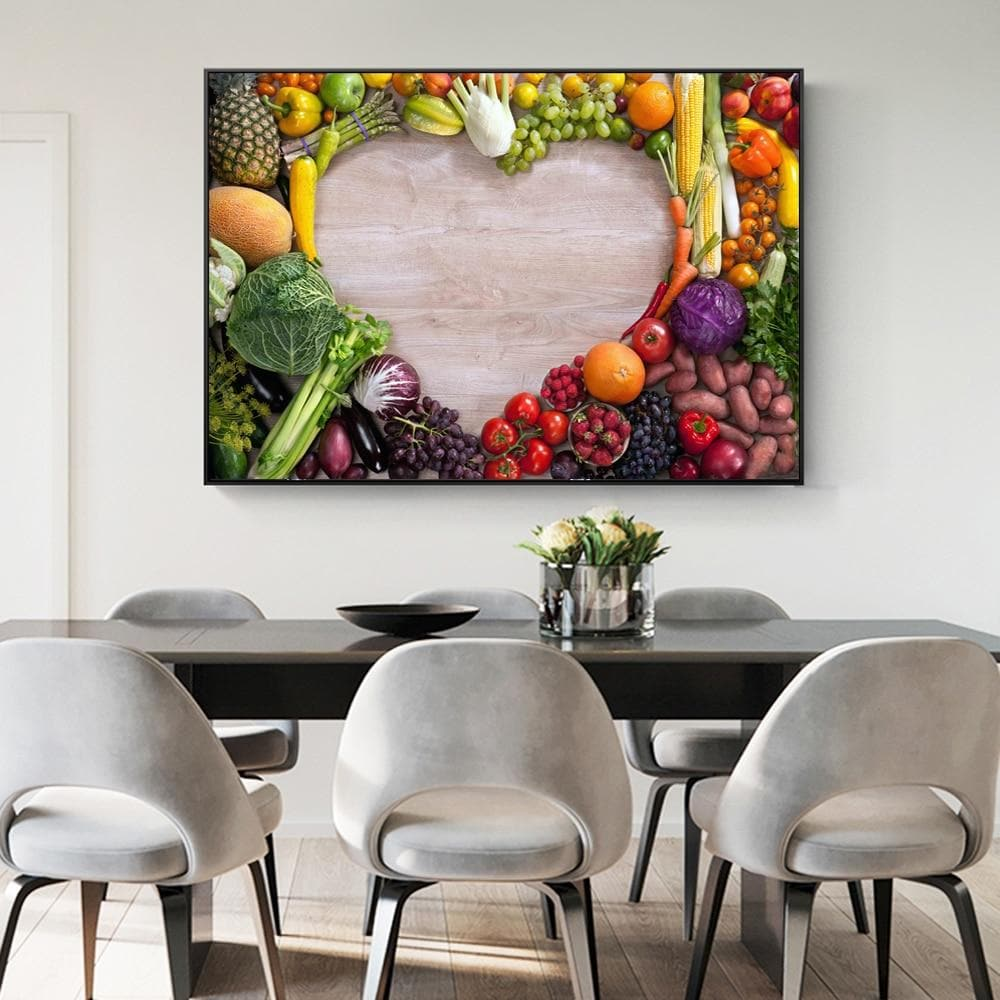 Realist Wall Posters And Prints Vegetable Love Puzzle Modern Decorative - winding art