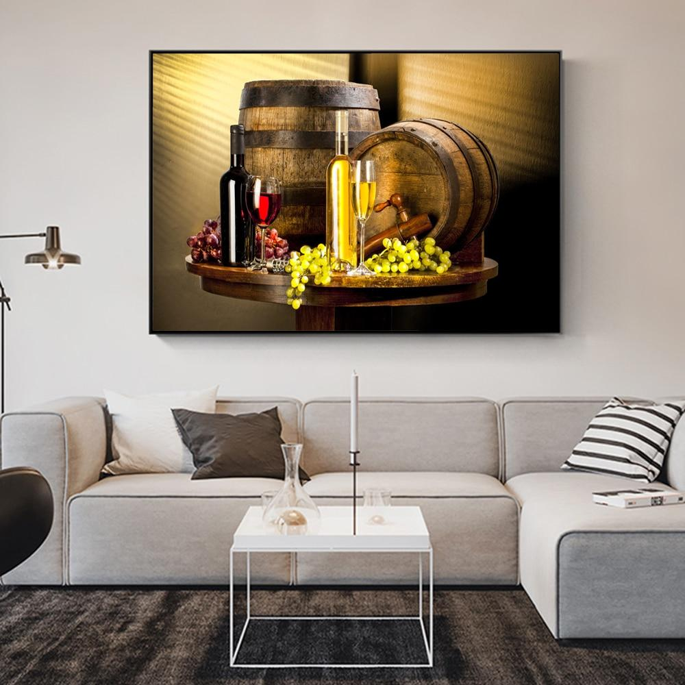 Various Wine With Grape Wall Art Canvas Grape Wine Canvas Art Paintings - winding art