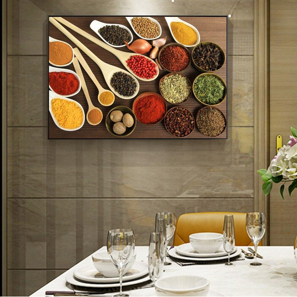 Kitchen Condiment Wall Posters And Kitchen Theme Art Paintings - winding art