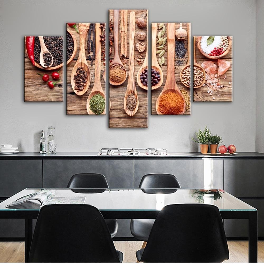 Kitchen Theme Canvas Art Wall Paintings Realist Condiment - winding art