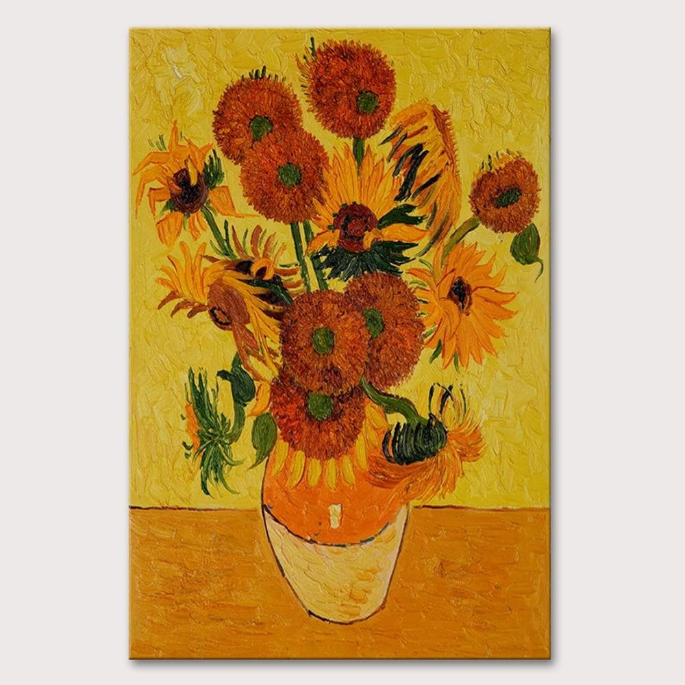 Pure Hand-painted Oil Painting on Canvas Van Gogh Sunflowers Paintings - winding art