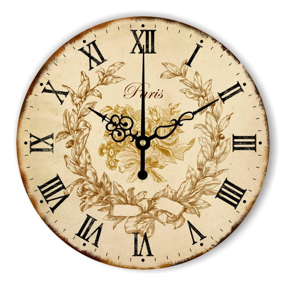 Europe  Wall Clock Warranty 3 Years Vintage - winding art