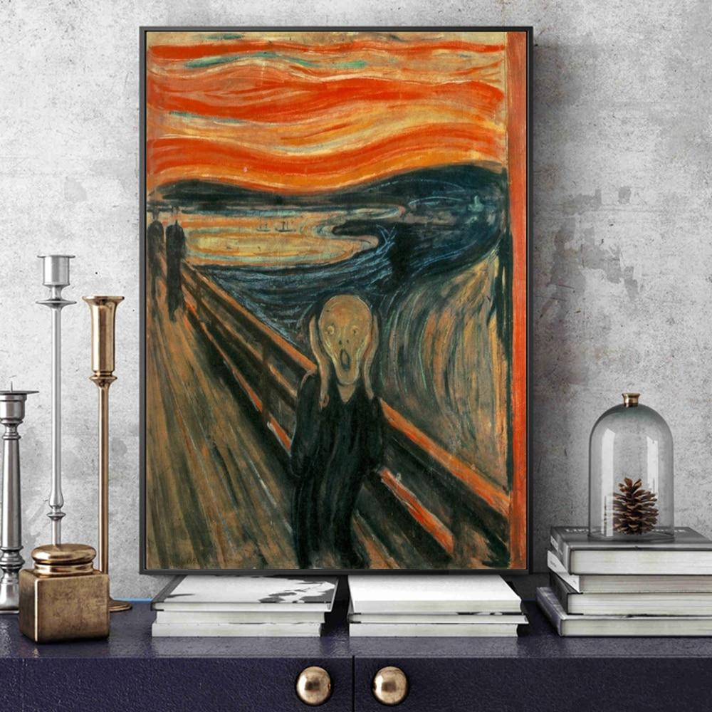 Classical Scream Edvard Munch The Scream Famous Canvas Art Paintings - winding art