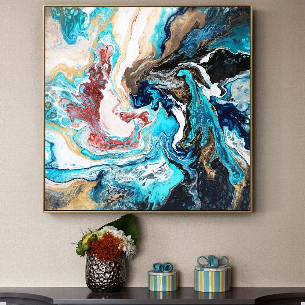 Abstrract Wall Art Canvas Paintings  Cuadros Decoration - winding art