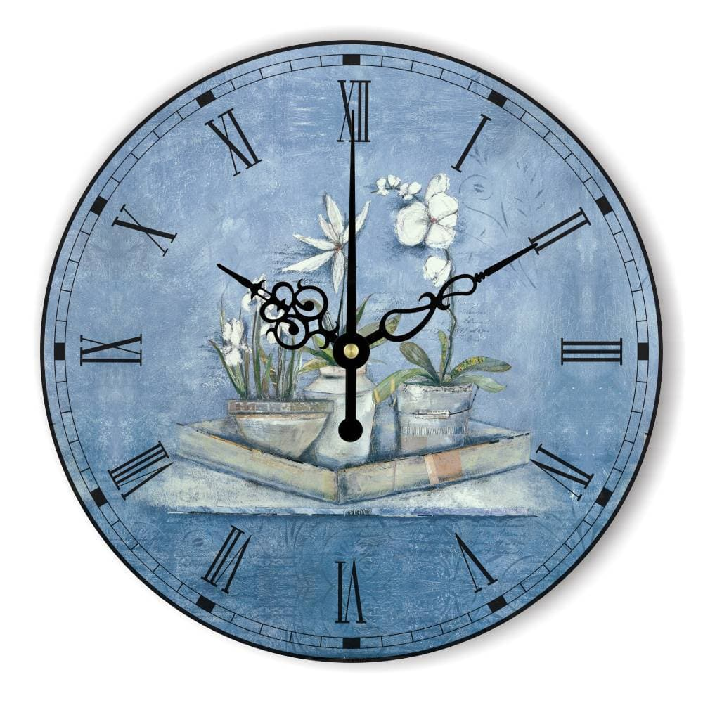 Pastoral Style Decorative Wall Clock With Silent Clock Movement - winding art