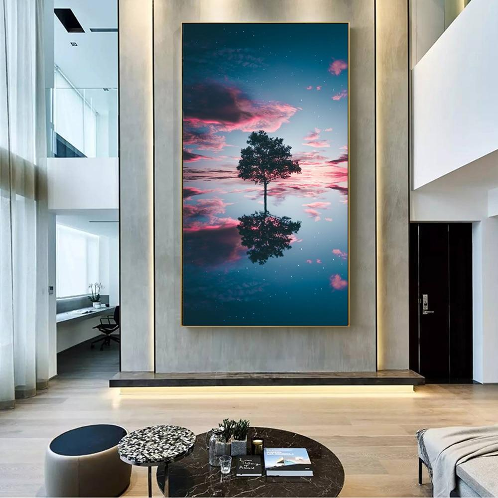 Modern Landscape Canvas Pictures Cuadros Cloud And Trees - winding art