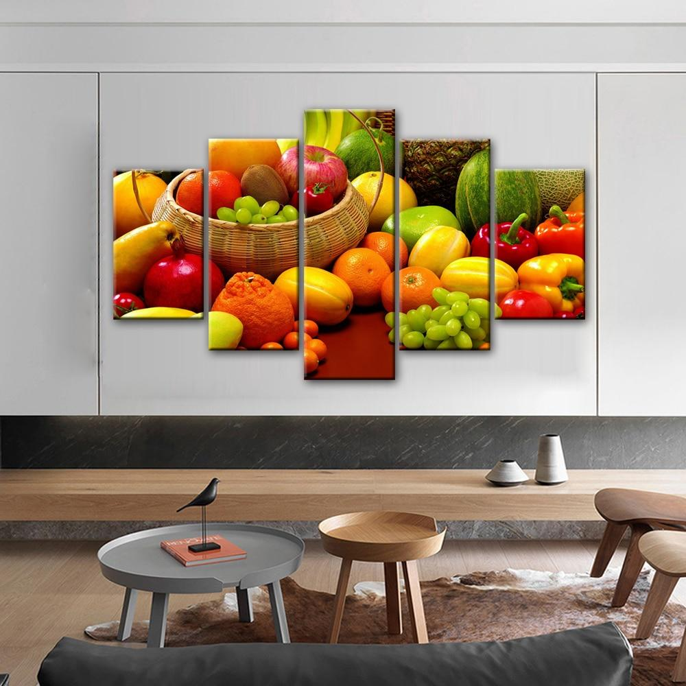 Kitchen Theme Decorative Canvas Art Prints A variety of Fruits - winding art