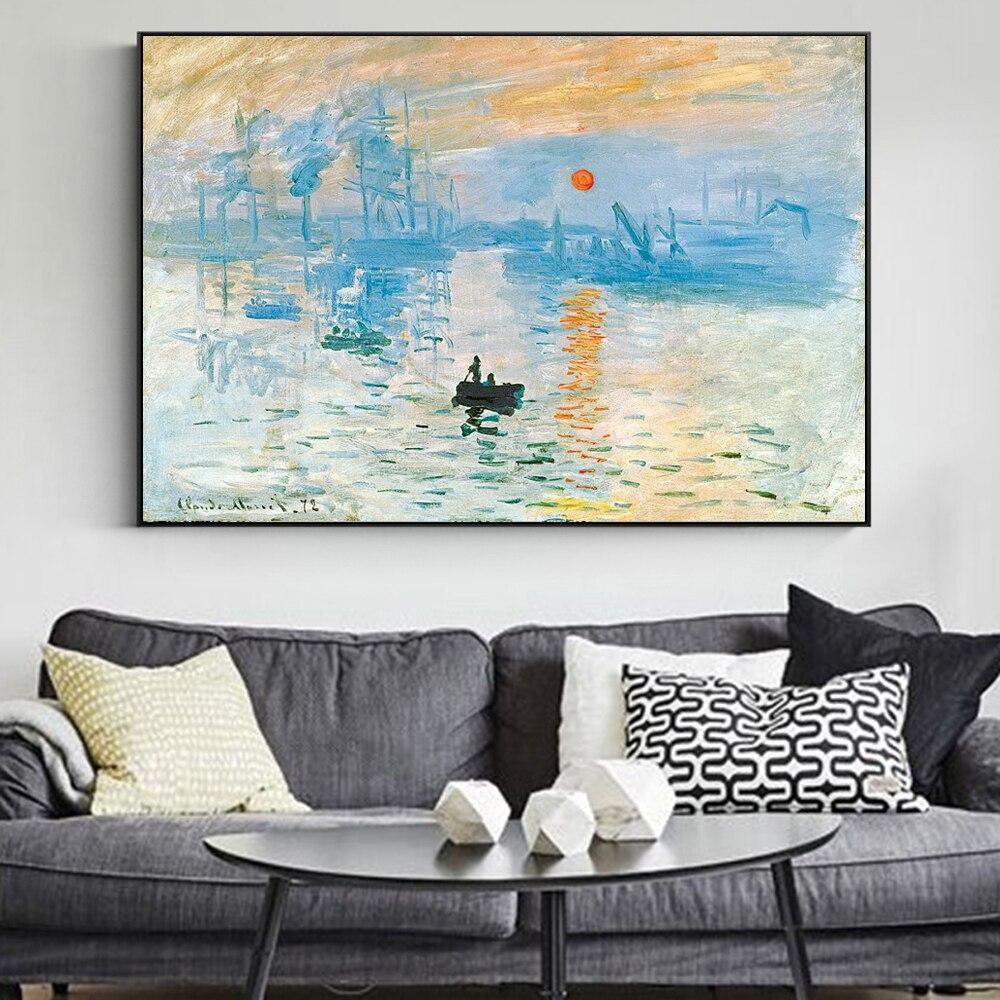 Impression Sunrise Canvas Art Paintings Reproductions  Claude Monet - winding art