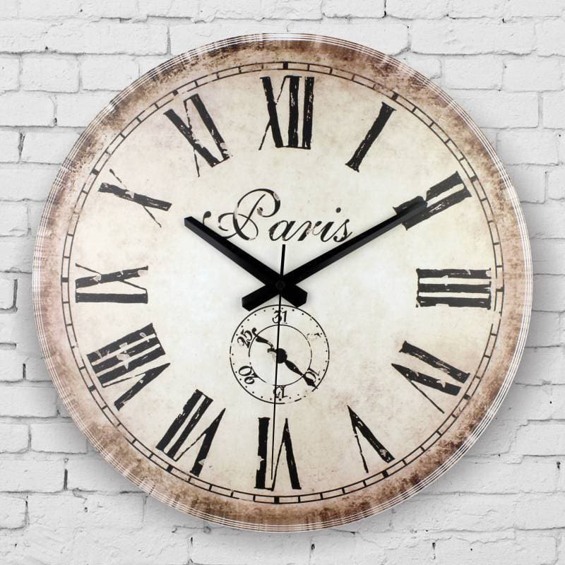roman number wall clock home decoration Mediterranean style - winding art