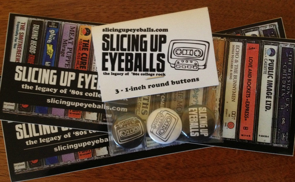 Slicing Up Eyeballs Button Set + Stickers