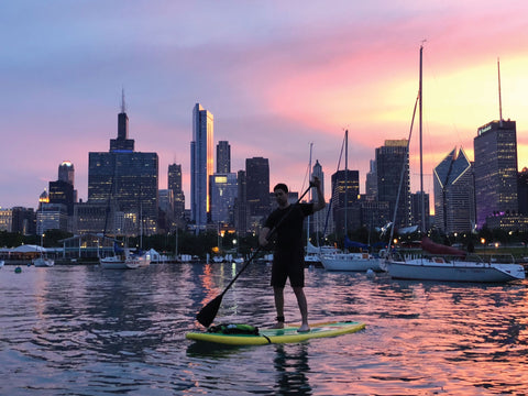 Sunset Paddle Board Chicago