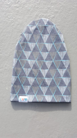 Geometric Triangles Slouch Beanie