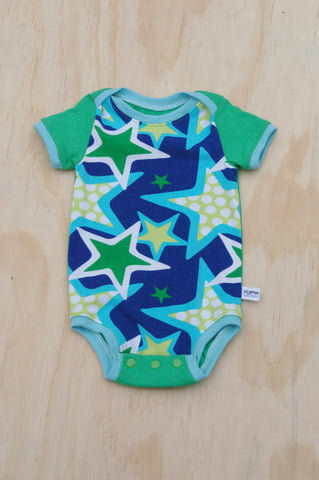 Green/Blue Stars Onesie