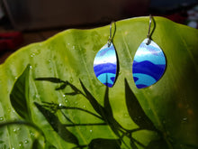 Load image into Gallery viewer, Jill Main aluminium Southern Alps earrings oval