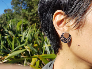 Jill Main Koru Double Stud Earrings