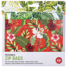 Load image into Gallery viewer, Reusable zip bags 8 set
