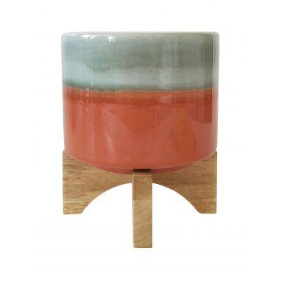 Aurora Orange Planter with Legs 16 cm